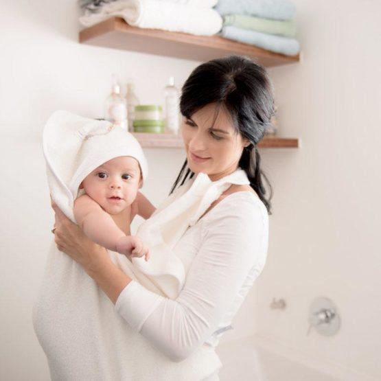 ClevaMama Apron Baby Bath Towel
